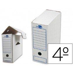 Cajas de archivo definitivo marca Liderpapel carton cuarto
