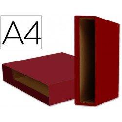 Caja archivador de palanca marca Liderpapel Din A4 Color System Rojo