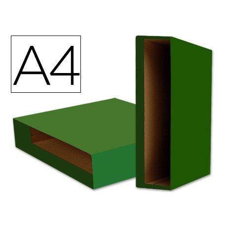 Caja archivador de palanca marca Liderpapel Din A4 Color System Verde