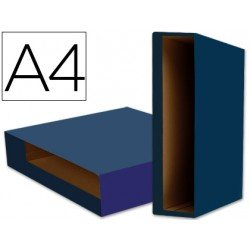 Caja archivador de palanca marca Liderpapel Din A4 Color System Azul