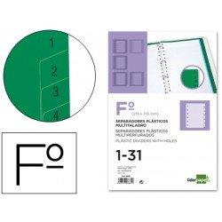 Separadores de plastico Liderpapel multitaladro folio