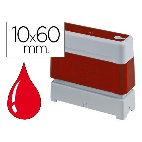 Sello Automatico marca Brother 10 x 60 rojo