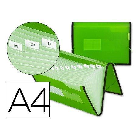 Carpeta clasificadora polipropileno Liderpapel Din A4 color Verde