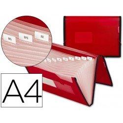 Carpeta clasificadora polipropileno Liderpapel Din A4 color rojo