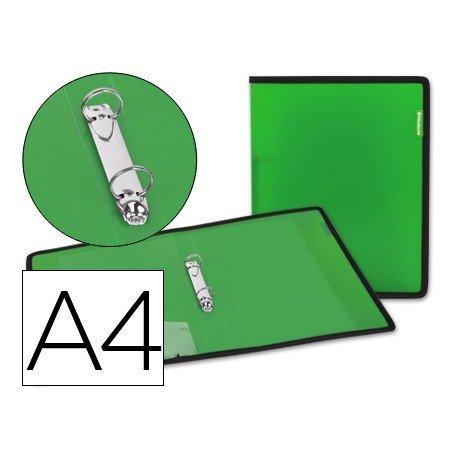 Carpeta de 2 anillas Beautone polipropileno Din A4 lomo 35 mm verde