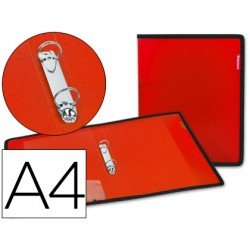 Carpeta de 2 anillas Beautone polipropileno Din A4 lomo 35 mm rojo