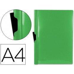 Carpeta dossier con pinza lateral Liderpapel 60 hojas Din A4 color verde