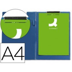 Portanotas plastico con miniclip superior Q-Connect azul