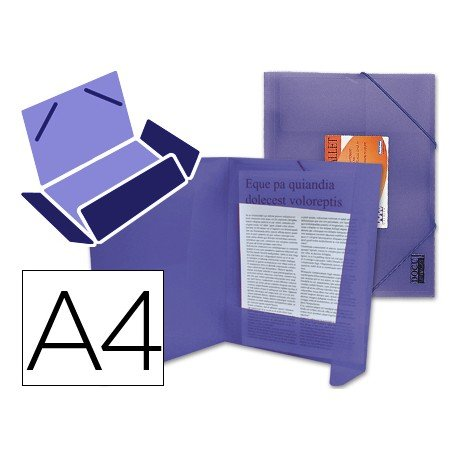 Carpeta lomo flexible con solapas Liderpapel Din A4 color violeta