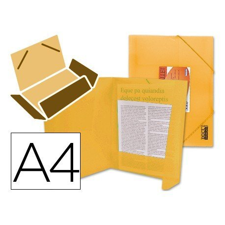 Carpeta lomo flexible con solapas Liderpapel Din A4 color naranja