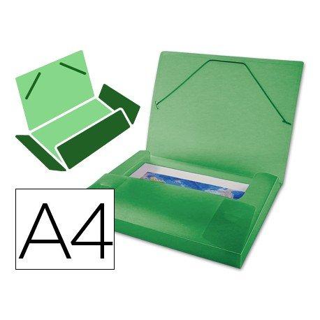 Carpeta Beautone lomo rigido gomas Beautone A4 verde