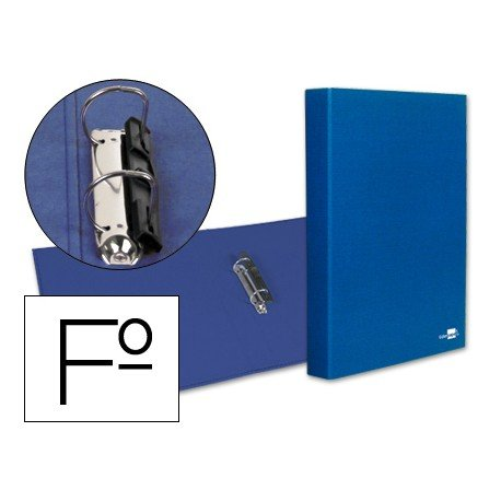 Carpeta 2anillas 25mm Folio marca Liderpapel Azul