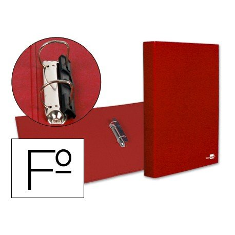 Carpeta 2anillas 25mm Folio marca Liderpapel Rojo