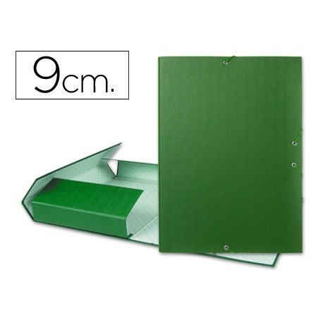 Carpeta de proyectos Liderpapel de carton gomas Paper Coat verde