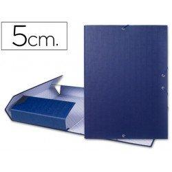 Carpeta de proyectos Liderpapel de carton con gomas Paper Coat lomo 50 mm azul