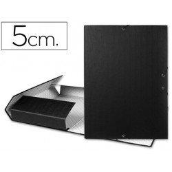 Carpeta de proyectos Liderpapel de carton con gomas Paper Coat lomo 50 mm negro