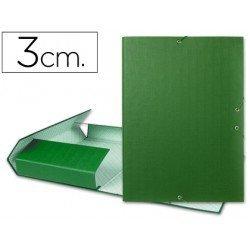 Carpeta de proyectos Liderpapel de carton con gomas Paper Coat lomo 30 mm verde