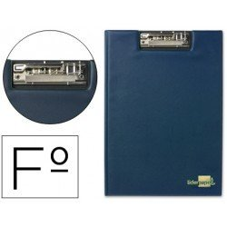 Portanotas plastico con miniclip superior Liderpapel azul