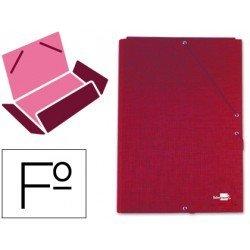 Carpetas de gomas carton forrado Paper Coat Liderpapel Folio rojo