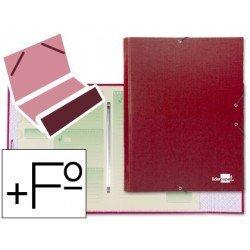 Carpeta clasificadora Paper Coat Liderpapel folio rojo