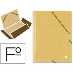 Carpetas de gomas en carton prespan Liderpapel Folio amarillo 880 g/m2