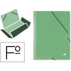 Carpetas de gomas carton simil prespan Liderpapel Folio verde