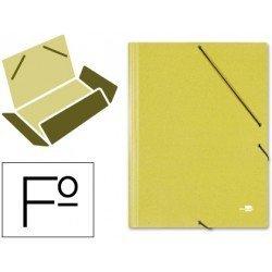 Carpetas de gomas carton simil prespan Liderpapel Folio amarillo