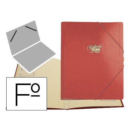 Carpeta clasificadora de cartón compacto Saro 275 x 360 mm Rojo