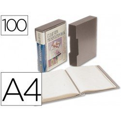 Carpeta escaparate con 100 fundas Beautone gris
