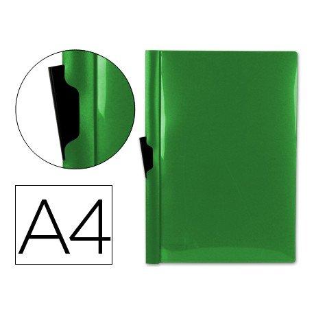 Carpeta dossier con pinza lateral Liderpapel 30 hojas Din A4 color verde