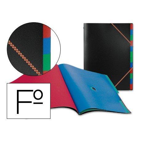 Carpeta clasificadora de polipropileno Beautone negro