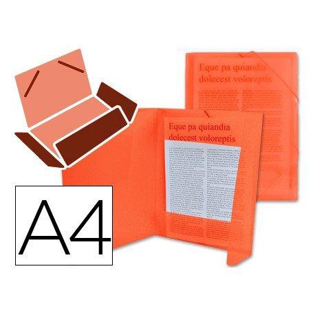 Carpeta lomo flexible con solapas Liderpapel Din A4 color rojo translucido