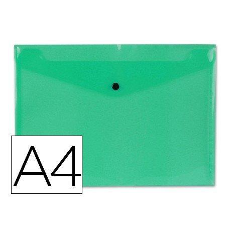 Carpeta sobre Liderpapel con cierre de broche Color verde