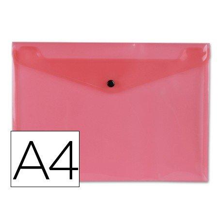 Carpeta tamaño sobre Liderpapel con cierre de broche Color rojo