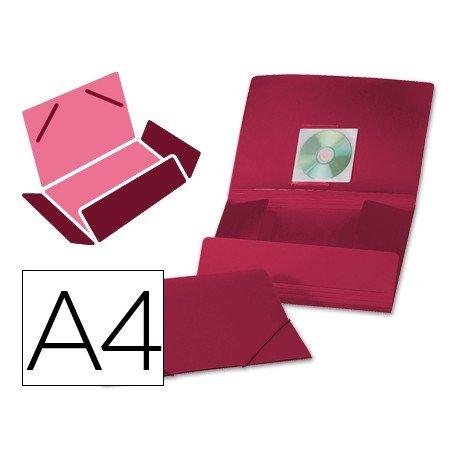 Carpeta lomo flexible con solapas Liderpapel Din A4 color rojo