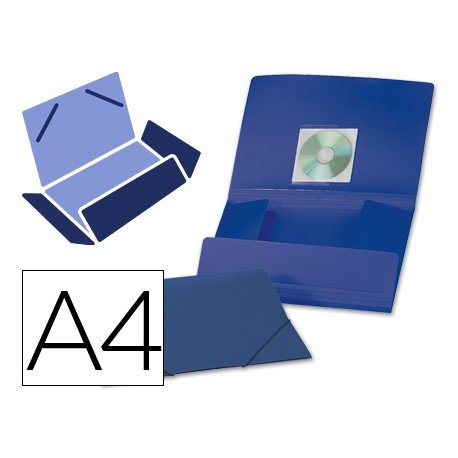 Carpeta lomo flexible con solapas Liderpapel Din A4 color azul