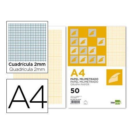 Papel milimetrado marca Liderpapel Din A4 80g/m2