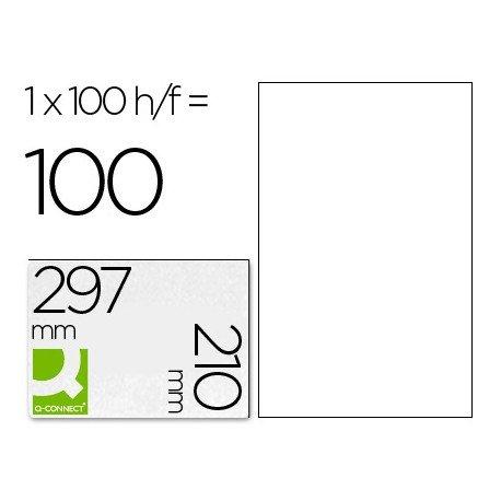 Etiquetas Adhesivas marca Q-Connect 210 x 297 mm
