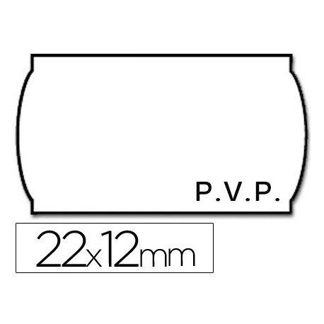 Rollo Etiquetas adhesivas marca Meto PVP 22 x 12