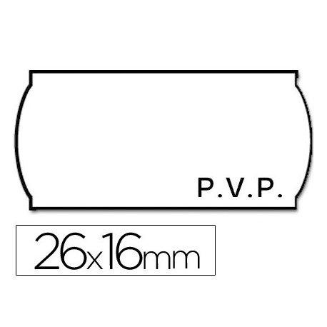 Rollo Etiquetas adhesivas marca Meto PVP 26 x 16