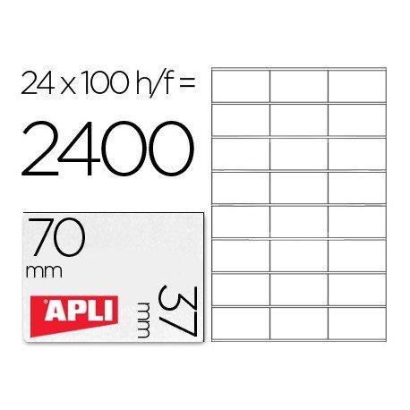 Etiquetas Adhesivas Apli 70 x 37 mm
