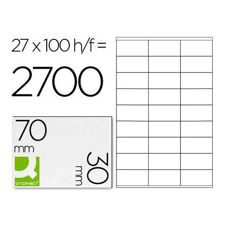 Etiquetas Adhesivas marca Q-Connect 70 x 30 mm