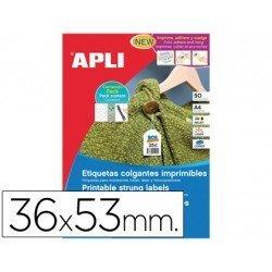 Etiquetas colgantes imprimibles marca Apli 36 x 53 mm
