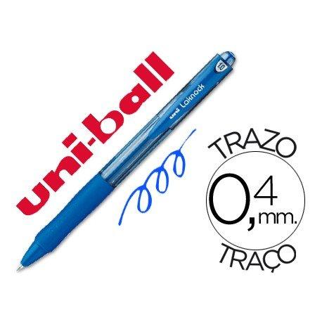 Boligrafo uni-ball Lacknock SN-100 azul retractil