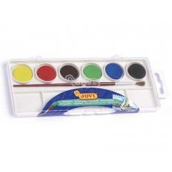 Acuarela marca Jovi estuche 6 colores