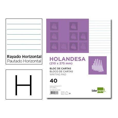 Bloc cartas Liderpapel holandesa rayado 210x275mm