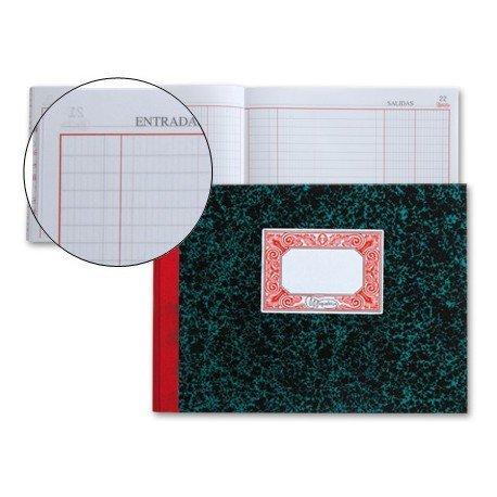 Libro cartone Miquelrius tamaño cuarto 100 hojas Caja- Entradas y salidas