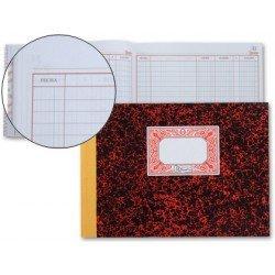 Libro cartone Miquelrius tamaño cuarto 100 hojas Ctas Ctes Debe, haber y saldo