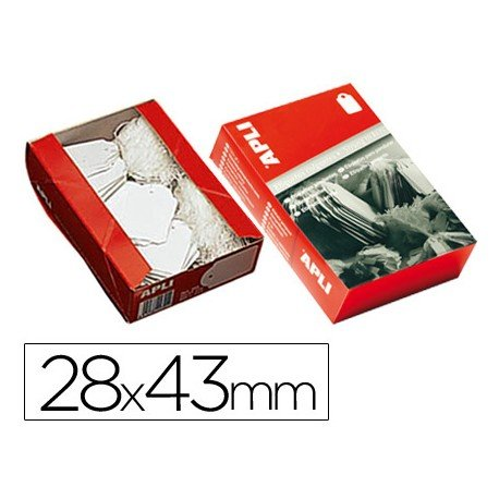 Etiquetas colgantes marca Apli 391 28 x 43 mm
