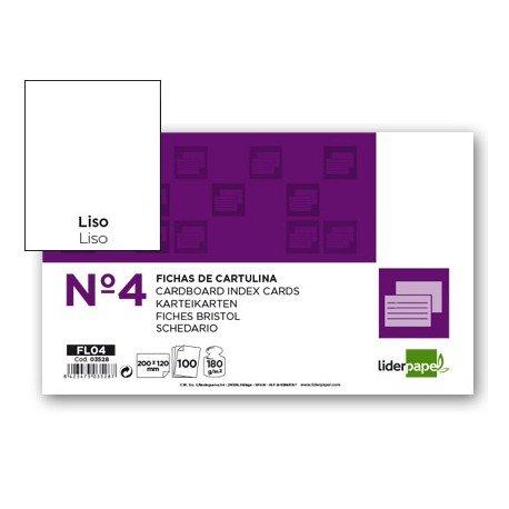 Ficha lisa marca Liderpapel N4